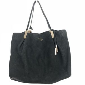 Kate Spade Black Textured Buttery Leather Hobo